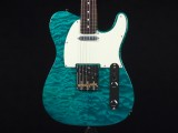 u33332 Fender Japan FSR MIJ Hybrid 60s Telecaster® Quilt Top, Rosewood Fingerboard, Transparent Green