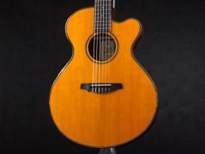 Crews Maniac Sound EG-1500C Natural Yellow [Electric-Gut Guitar]