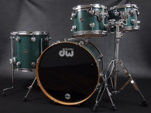 dw Collector's Maple Drum set emerald oil Stain エメラルド ドラムセット