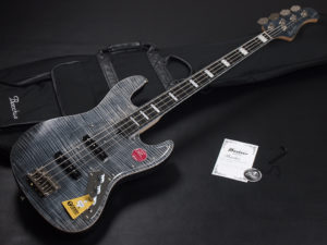 Craft Series momose Jazz Bass JB woodline 417 ウッドライン WL-434 Flame Maple 黒 Black オイル CTM カスタム Limited
