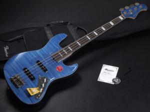 Craft Series momose Jazz Bass JB woodline 417 ウッドライン WL-434 Flame Maple 青 Blue オイル CTM カスタム Limited