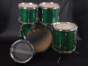 ヤマハ ドラムセット ステージカスタム 音楽教室 部室 初心者 初級者 ビギナー 初めて 中級 ミドルクラス バーチ フィリピンマホガニー ハイテンションラグ 緑 グリーン