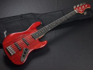 ウッドライン Handmade momose Deviser Global WJB 417 standard plus WL 赤 レッド Red ジャズベ Jazzbass Fender フェンダー