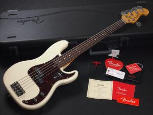 アメリカン プロフィッショナル 2 プレシジョン ベース OWT 白 vintage standard elite USA STD Ultra original 5弦 5st オリンピック ホワイト