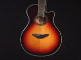 YAMAHA APX700II VFG FS 初心者 入門向け 入門 ビギナー 女性 女子 子供 エレアコ フォーク ギター アコースティック Vintage sunburst 小型 小ぶり CPX600 APX600 small S