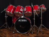 """TAMA ROCKSTAR 7pc ドラムセット BD22"""" TT8"""" 10"""" 12"""" 13"""" 14"""" FT16"""""""