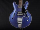 セミアコ ES-335 パールトーン シリーズ シャドウ ice Blue purple 青 アイス ブルー パープル metallic メタリック フルアコ semi full acoustic