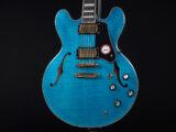 エクセルバート 青 アクア マリンブルー standard es-335 semi Hollow made in 日本製 momose 355 345 HEADWAY aqua marine Blue