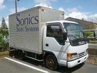 機材運搬用トラック
