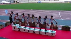 2013国体 少年A女子100H決勝の表彰式